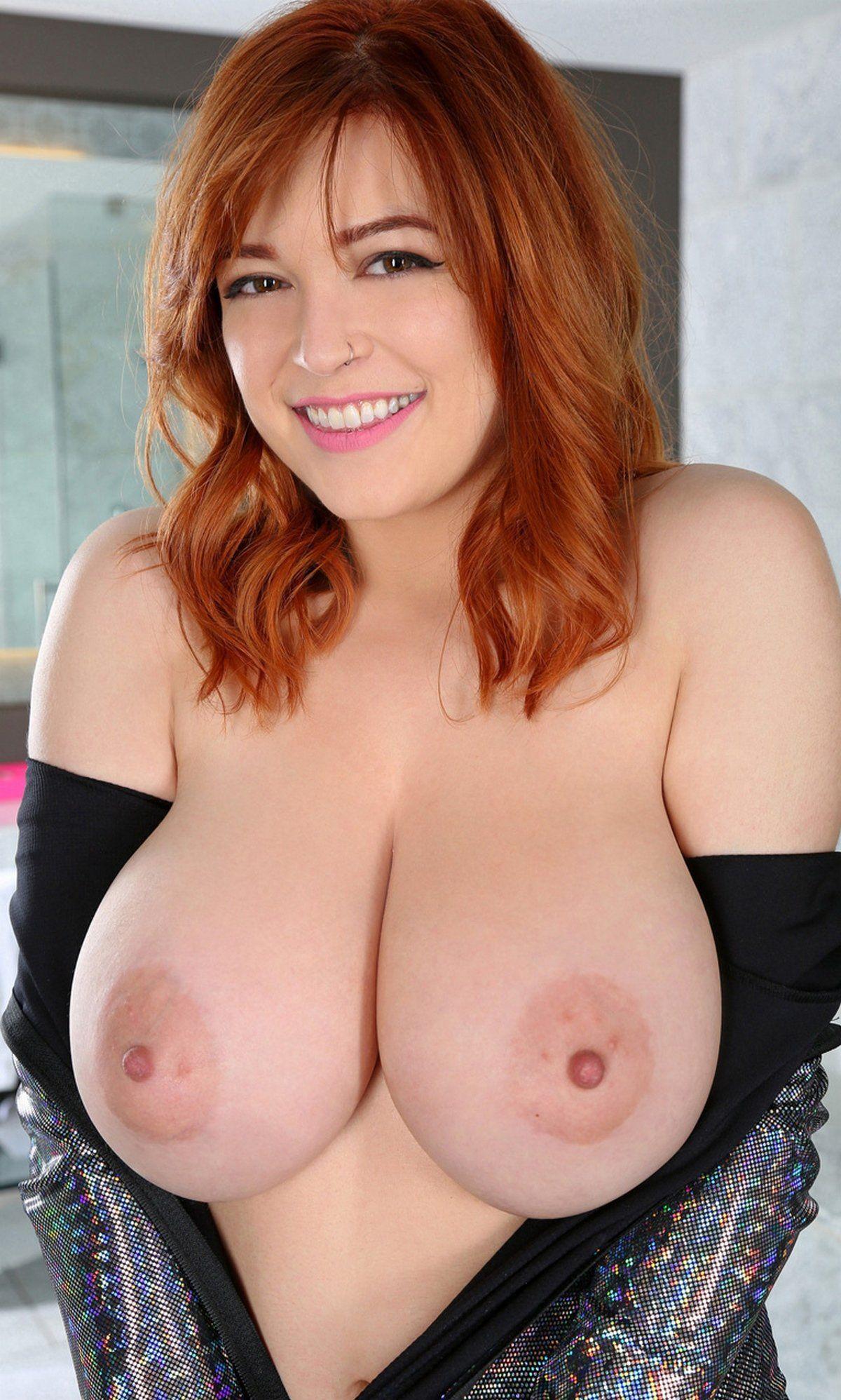 Beautiful big tits redhead porn pics